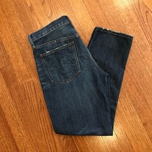 Madewell crop straight leg jeans